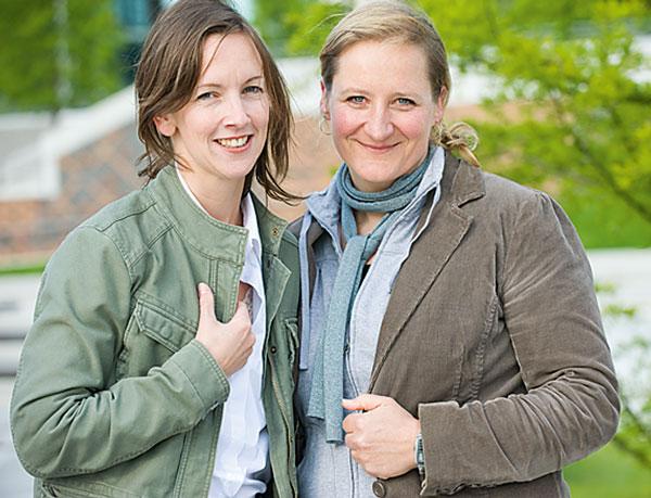 Tina Heine (links) und Nina Sauer (rechts) haben Großes vor: 2010 soll das ganze Hafengebiet zur Jazzbühne werden.