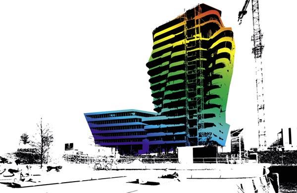 Marco-Polo-Tower und Unilever-Zentrale – in Vorbereitung ist die Verleihung des Umweltzeichens der HafenCity Hamburg GmbH in Gold für die Unilever-Zentrale von Behnisch Architekten.