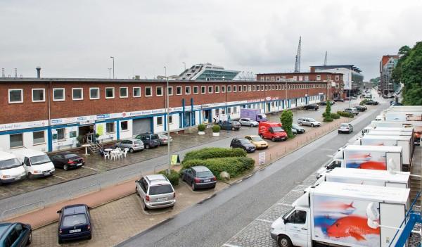 Die Pack- und Auktionshallen der Fischmarkt Hamburg-Altona GmbH