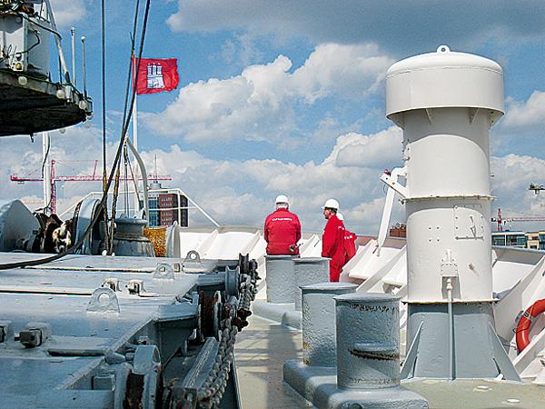 An Bord der Cap San Diego