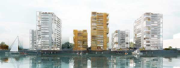 Wasserhäuser im Baakenhafen